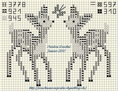 free Christmas cross stitch chart deer