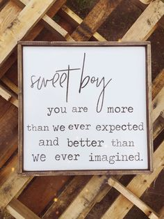 Simple Inspirational Quote | More Than We Expected #quote #wallart