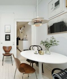 Trendy Home Modern Contemporary Decor Ideas Dining Room Design, Scandinavian Dining Room, Beautiful Dining Rooms, Living Room Designs, Dining Room Decor, Interior Design, House Interior, Trendy Home, Kitchen Table Settings