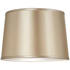 Sydnee Champagne with Silver Trim Shade 14x16x11 (Spider) - #8G337 | LampsPlus.com