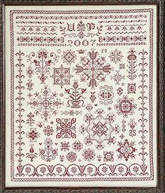 18th century cross stitch | ... sampler cross stitch pattern 123stitch com samplers cross stitch it
