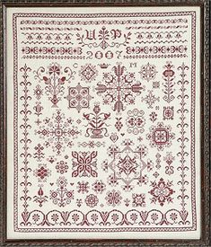 Austrian Spot Sampler - Cross Stitch Pattern