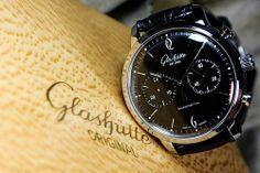 Glashutte - Original I like the font Sport Watches, Cool Watches, Watches For Men, Casual Watches, Luxury Watches, Rolex Watches, Glashutte Original, Jewelry Show, Timeless Design
