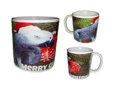 African Grey Parrot Christmas Coffee Mug African Grey Parrot, Christmas Coffee, Coffee Mugs, Tableware, Gifts, Dinnerware, Presents, Coffee Cups, Tablewares