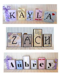 Art Blocks for the Grandchildren for Xmas 2010