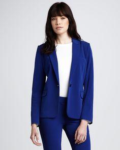 Theory One-Button Blazer & Skinny Stretch Pants - Neiman Marcus