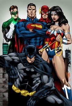 #Justice #League #Fan #Art. (Justice League - Marcio) By:MarcBourcier. ÅWESOMENESS!!!™ ÅÅÅ+