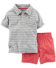 Carter's Baby Boys' 2-Piece Polo & Shorts Set