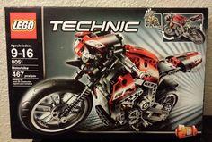 New Sealed 2010 Lego 8051 Technic Motorbike Motorcycle 467 Piece Kit 4567586 #LEGO #motorbike #motorcycle