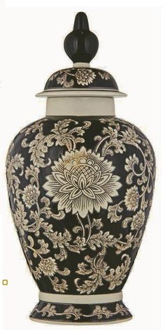 Montarte Import 2012/2013 - Lidded Jar/Vase/Potiche ceramic Chinoiserie, (****possibly Brazilian company).