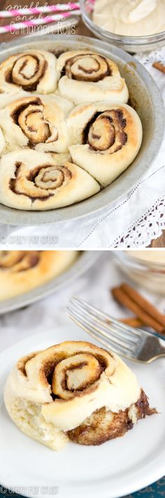 These Small Batch Cinnamon Rolls are on your table in under one hour! Quick and sinful, just like they should be.