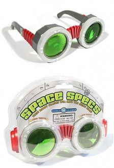 "These ""Space Specs"" are only $7, and would be PERFECT for steampunk goggles; just replace the ear pieces with leather straps!"