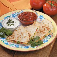 Two-Cheese Quesadillas...we make these all the time...quick, easy, & yummy <3