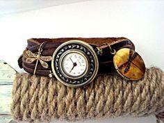 Bead watch wristwatch with working watch by VillaSorgenfrei, $39.90