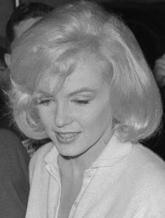 Marilyn Monroe after leaving the Columbia Presbyterian Hospital, 1961.