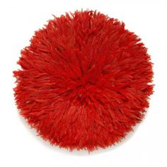 Juju Feather Headdress Red - handmade in Cameroon