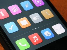 Simple iOS icons #webdesign #design #designer #inspiration #user #interface #ui