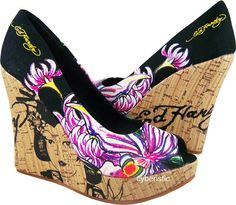 Ed Hardy Wedges I so have these so comfy  love them