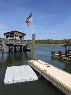 Floating docks have been designed using a tough vinyl material which makes it durable and resistant to impacts which may lead to punctures. Floating Dock Kits, Lake Dock, Buyers Guide, Kayaking, Villa, Building, Outdoors, Travel, Amazon