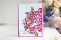Elena Olinevich Stained Glass Flowers, Heart Melting, New Instagram, Copic Markers, Color Card, Something Beautiful, Floral Bouquets, Becca, One Color