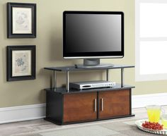 TV Stand Cabinet Entertainment Media Center Storage Dorm Bedroom Black Cherry #ConvenienceConcepts…