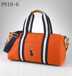 1e1e800aa28 Ralph Lauren Orange Canvas Pony Slim Handbag - Jaimonvoyage.com