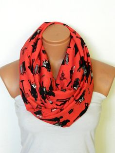 the human figure scarfred scarvesInfinity by WomensScarvesTrend, $19.00