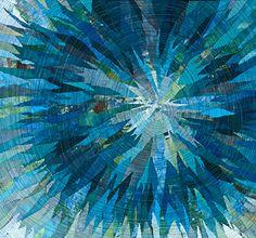 Melissa Laing - Whirlpool art quilt blue aqua teal turquoise
