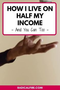 Do you want to live on half your income? It's possible for you! Here's exactly how to live on half your income, tips to get there, and the exact steps I've taken. Learn how to slash your costs, make more money, and reach financial freedom down the road! #savemoney #financialfreedom #bossbabe #radicalfire Budgeting Worksheets, Budgeting Tips, Money Saving Challenge, Money Saving Tips, Make More Money, Ways To Save Money, Dividend Investing, Creating Wealth, Finance Organization