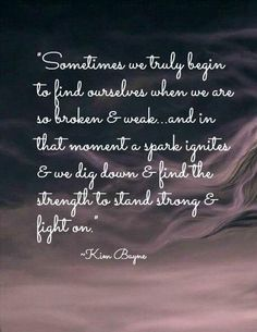 Stand Strong & Fight On....
