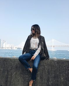 aimee_song_of_style_perfext_jacket_self_portrait_top_ag_jeans_chloe_bag