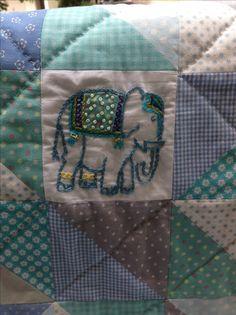 Elephant themed baby blanket