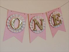 Pink & Gold Highchair Cake Smash Banner by LaCremeBoutique on Etsy https://www.etsy.com/listing/204896756/pink-gold-highchair-cake-smash-banner