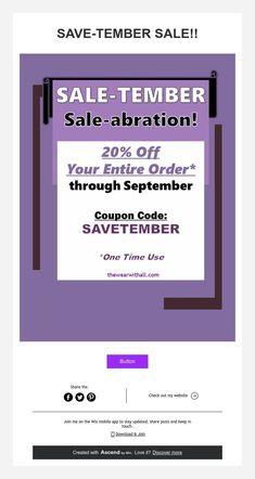 SAVE-TEMBER SALE!!