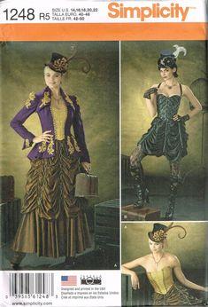 1035bd92081 Size 14-22 Misses Plus Size Steampunk Costume - Corset Pattern - Fitted  Princess Seam Coat - Victori