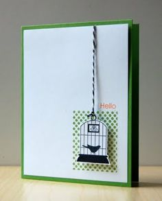 I believe I have tis stamp set-Aviary, by Stampin'Up! 