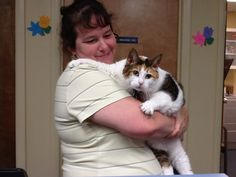 Callie & Mom Hug Your Cat Day, Mom, Cats, Animals, Gatos, Animaux, Animales, Cat, Kitty