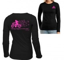 Therapy Happens In The Wind women's motorcycle shirt!: