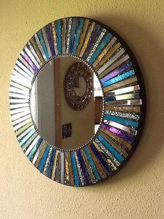 Mosaic Tile Art, Mirror Mosaic, Mosaic Crafts, Mosaic Projects, Mosaic Glass, Stained Glass Mirror, Stained Glass Birds, Stained Glass Panels, Mirror Glass