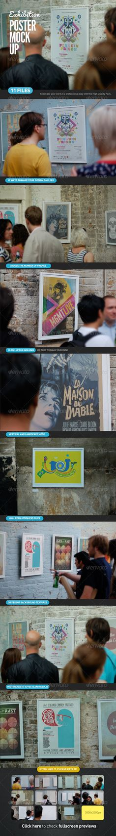 Poster Exhibition Gallery Mock-Up Download here: https://graphicriver.net/item/poster-exhibition-gallery-mockup/3399079?ref=KlitVogli