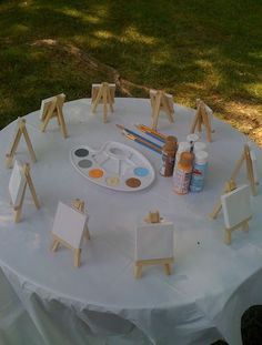 Art Ideas for Kids Party |Classic Kids Party Ideas For The Homesteading Family | Fun and Cool DIY Outdoor Parties by Pioneer Settler at http://pioneersettler.com/classic-kids-party-ideas-homesteading-family/