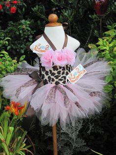 Baby Kitty Pink Cheetah Tutu Outfit by Baby2BNashville on Etsy, via Etsy.