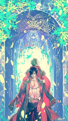 One Piece, Strawhat Pirates, Zoro, Luffy