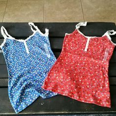 New Old Navy  tank tops with lace straps New with tags. 2 tank tops from old navy. Straps are a soft lace. Both are stretchy and super cute! Size small, petite Old Navy Tops Tank Tops