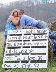 THIS IS A MUST!!!!!!!! <3 <3 <3 engagement photo ideas, country photo ideas, engagement, country, couple photography