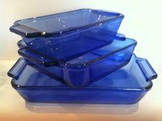 AnchorHocking COBALT BLUE PYREX  Vintage by SwoonWorthyTreasures, $22.99