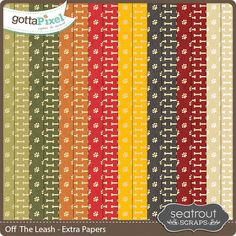 Off The Leash Extra Papers :: Paper Packs :: Packs :: Gotta Pixel Digital Scrapbook Store by Seatrout Scraps  $2.00