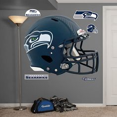 Fathead  Seattle Seahawks Helmet Wall Graphic - Wall Sticker Outlet