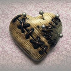 Voodoo heart brooches coming back to the shop soon...