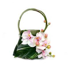 Pink Orchid Handbag ...... Bouquet . Hanging Arrangement
